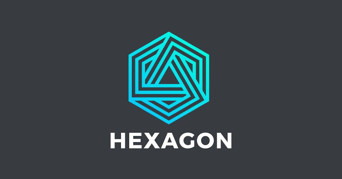 Logo Hexagon Infinity Loop Linear Technology by Sentavio