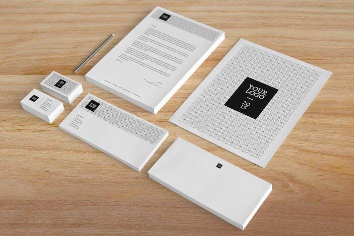 Thumbnail for Minimal Black & White Stationery