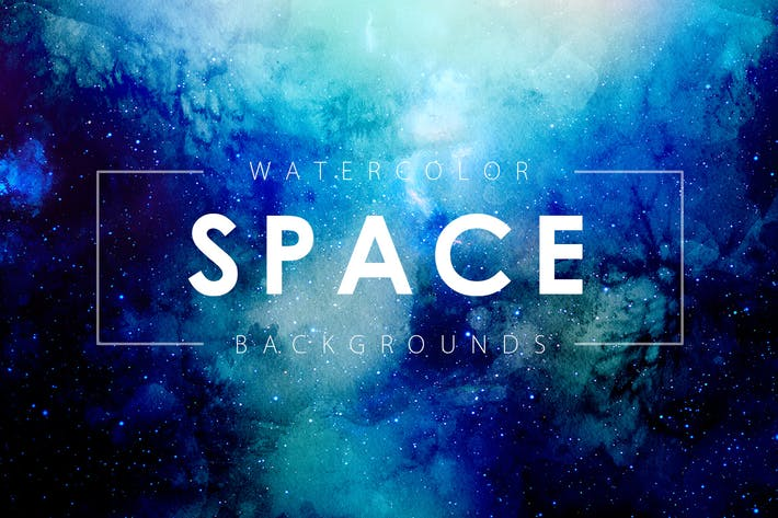 Thumbnail for Space Watercolor Backgrounds