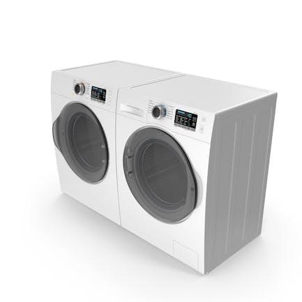 Dryer and Washing Machine Generic White