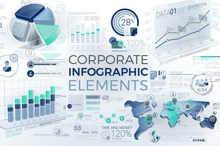 Thumbnail for Corporate Infographic Elements