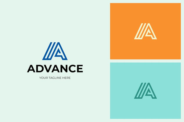 Thumbnail for Advance A Letter Logo