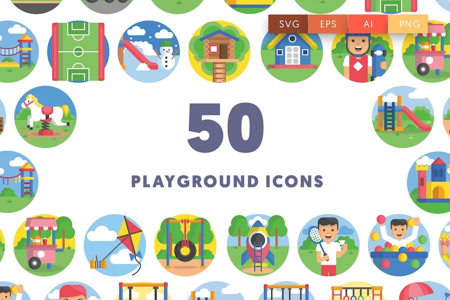50 Spielplatz Icons