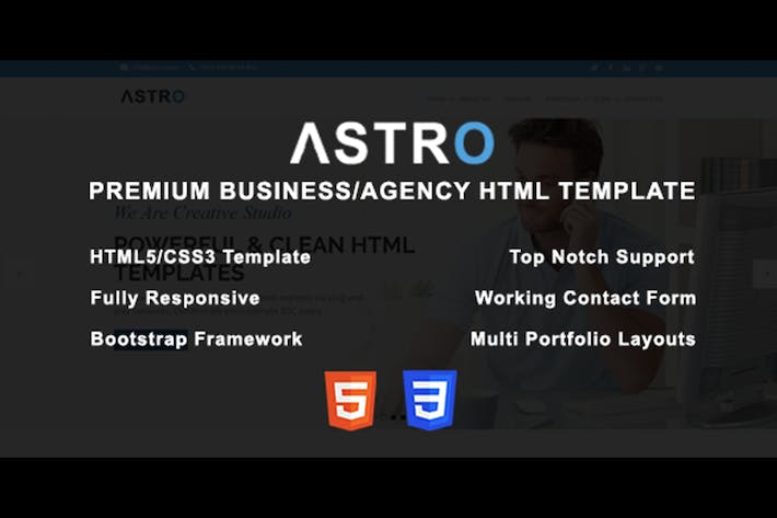 Thumbnail for Astro - Premium Business/Agency HTML Template