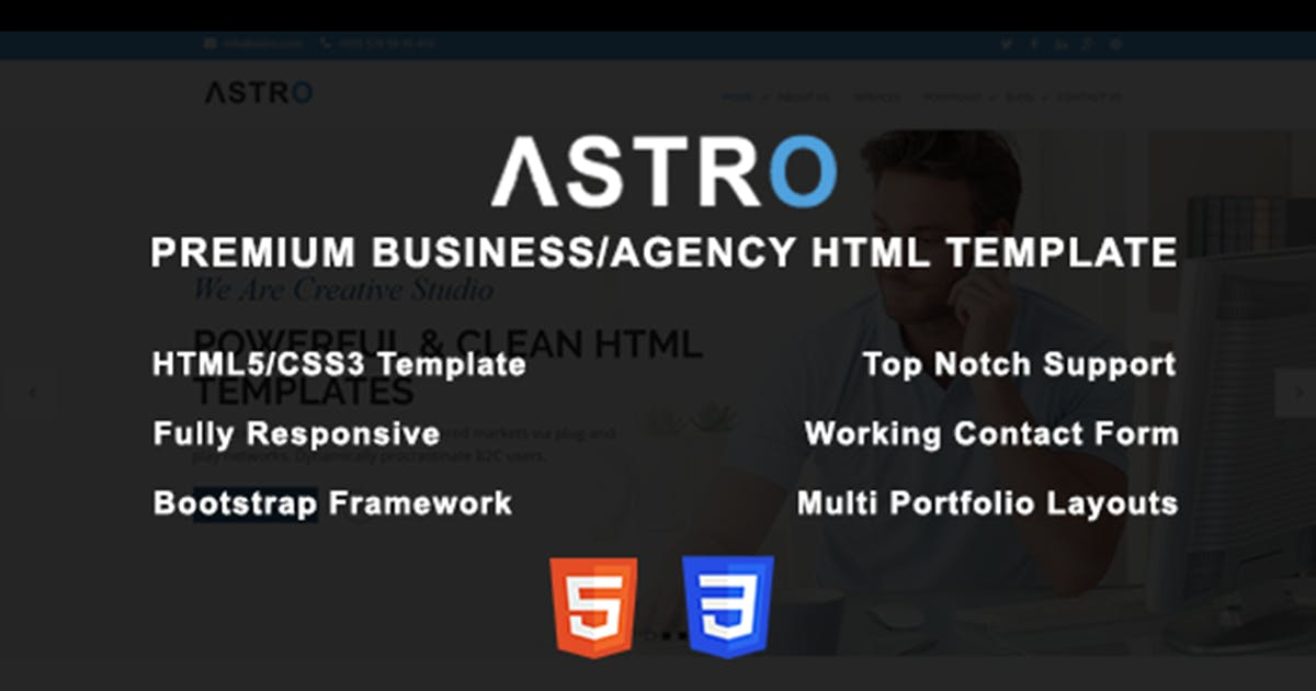 Download Astro - Premium Business/Agency HTML Template by max-themes