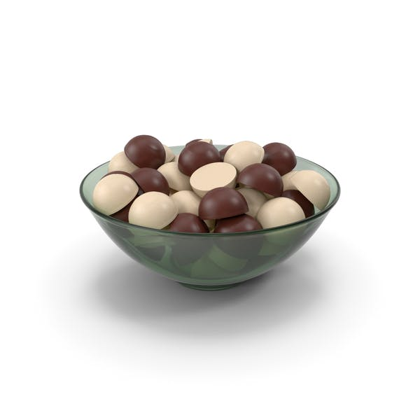 Glass Bowl With Chocolate
