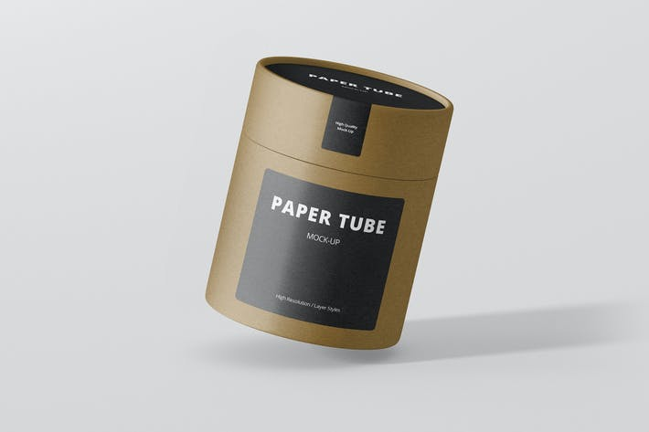 Cover Image For Paper Tube Packaging Mock-Up - Medium