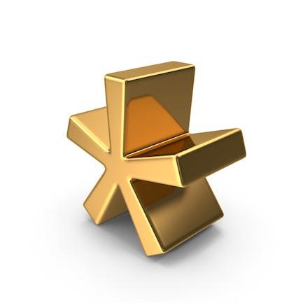 Gold Asterisk Symbol