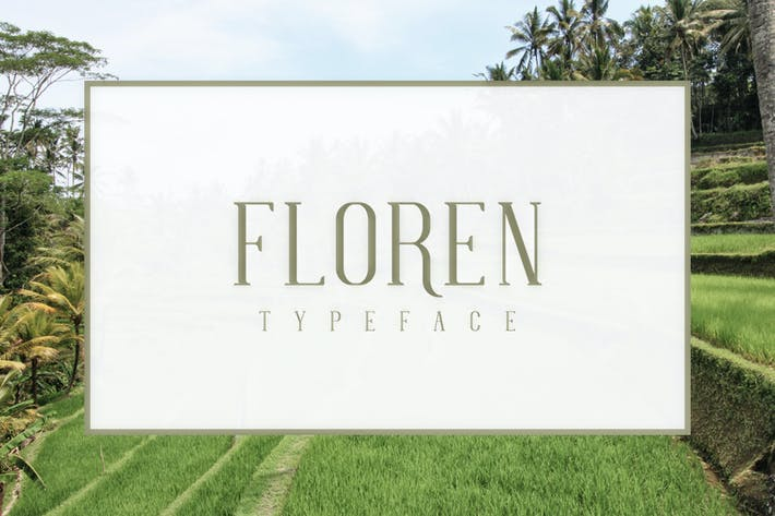 Thumbnail for FLOREN Typeface