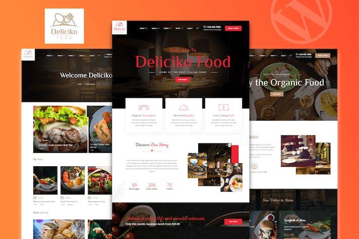 Thumbnail for Deliciko - Restaurant WordPress Theme