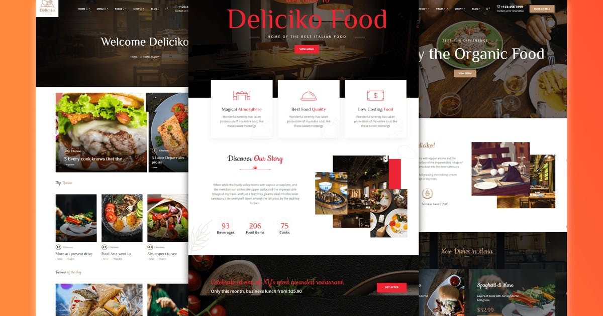 Download Deliciko - Restaurant WordPress Theme by trippleS