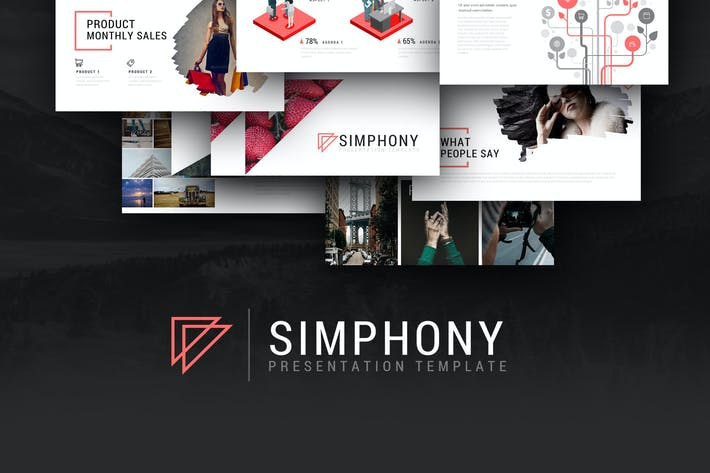 simphony presentation template by brandearth on envato elements