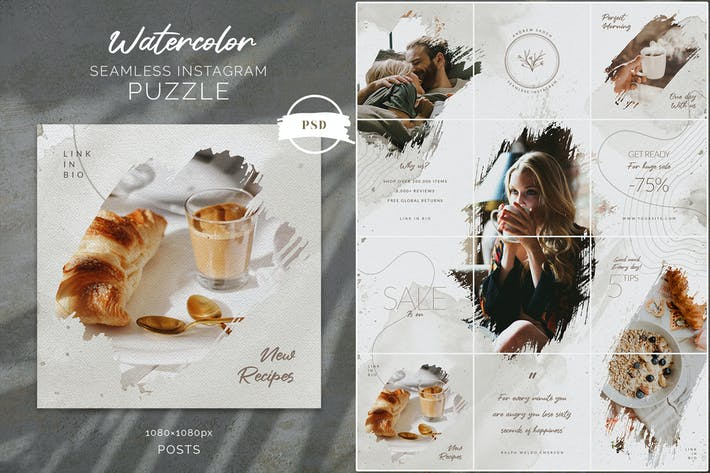 Thumbnail for Watercolor Instagram Puzzle