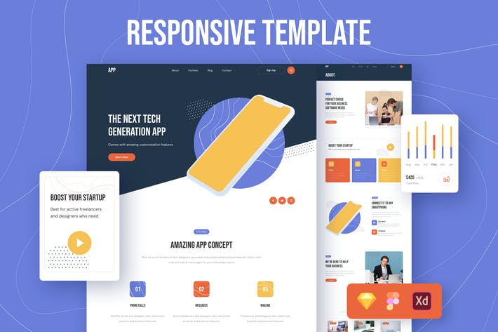 Thumbnail for App Responsive Template