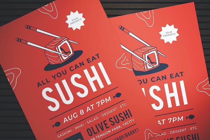 Thumbnail for Sushi Dinner Flyer