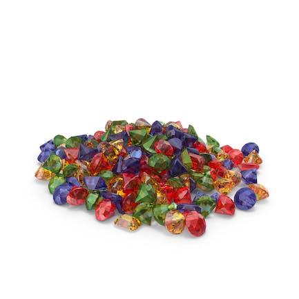 Montón de gemas mixtas