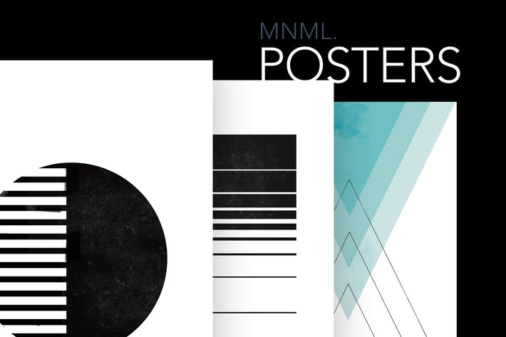 Thumbnail for 3 Minimal Posters CMYK 300DPI