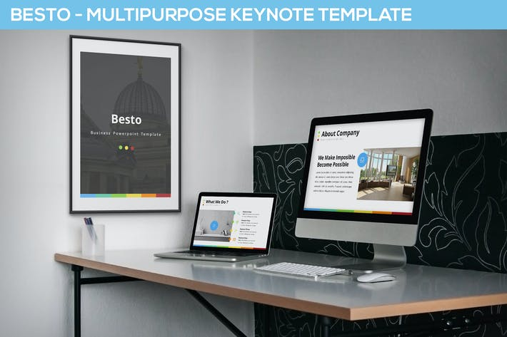 Thumbnail for Besto - Multipurpose Keynote Template