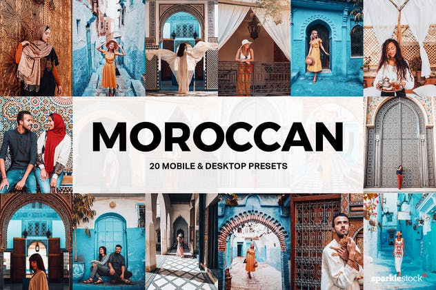 20 Moroccan Lightroom Presets and LUTs