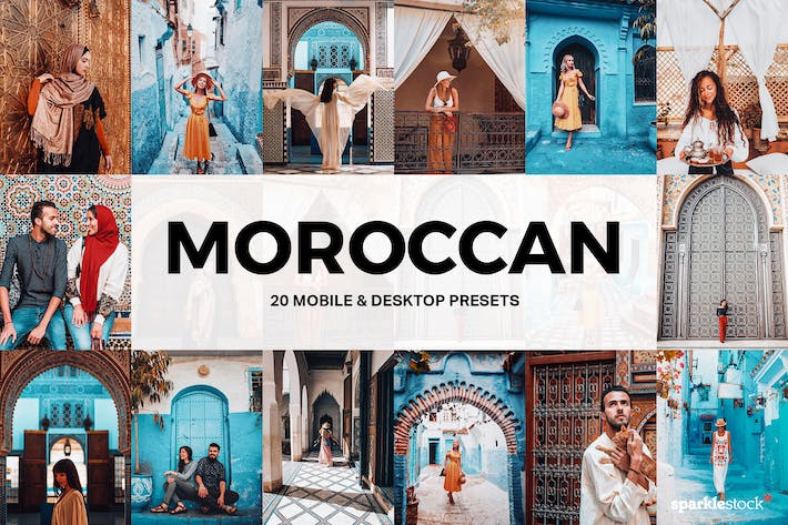 Thumbnail for 20 Moroccan Lightroom Presets and LUTs