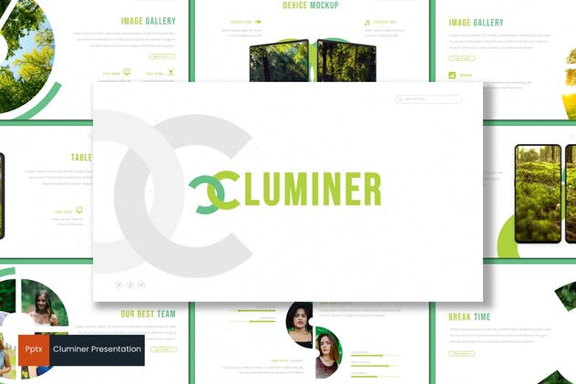 Cluminer - Powerpoint Template - product preview 0
