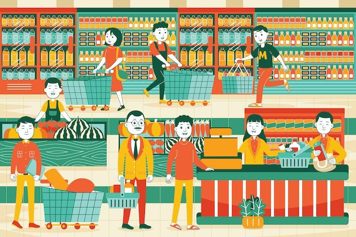 Supermarket Vector Illustration #01