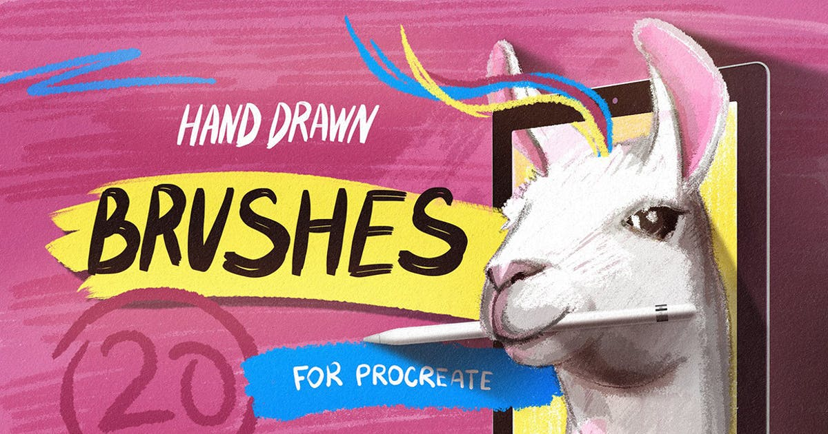 Download Hand Drawn Brushes for Procreate by pixelbuddha_graphic