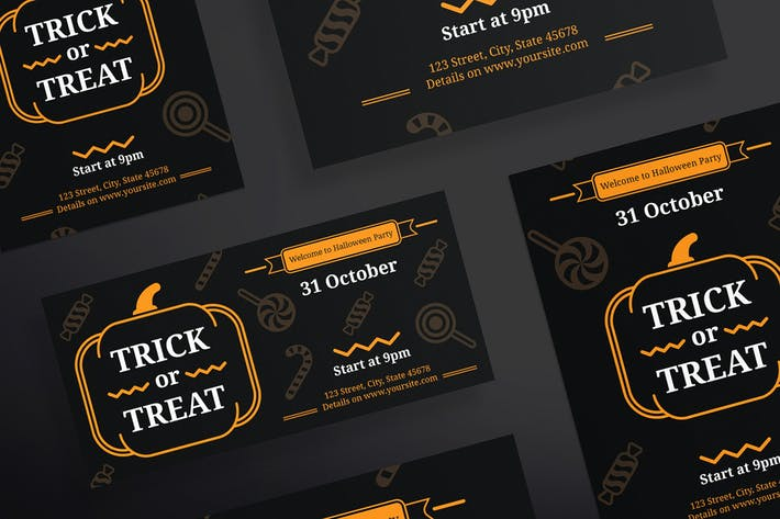 Cover Image For Halloween Party Flyer and Poster Template