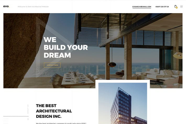 Thumbnail for evo Creative Architecture & Interior PSD Template