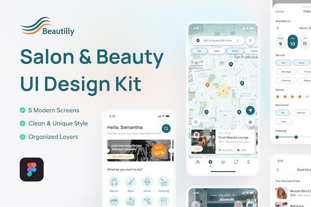 Beautilly - Salon and Beauty UI Kit