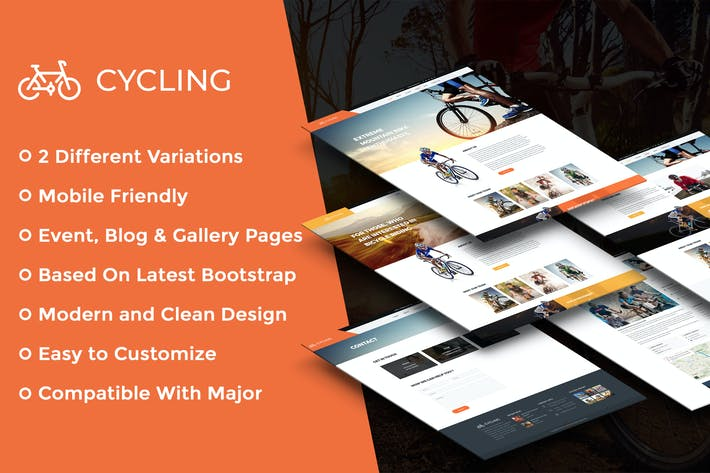 Thumbnail for Cycling Multipurpose Responsive HTML Template