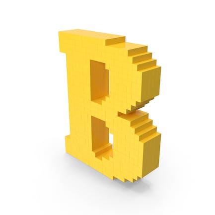 Letra voxel b