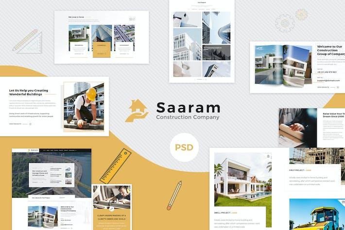 Thumbnail for Saaram | Construction PSD Template