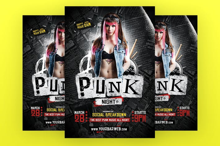 Thumbnail for Punk Night Flyer Template