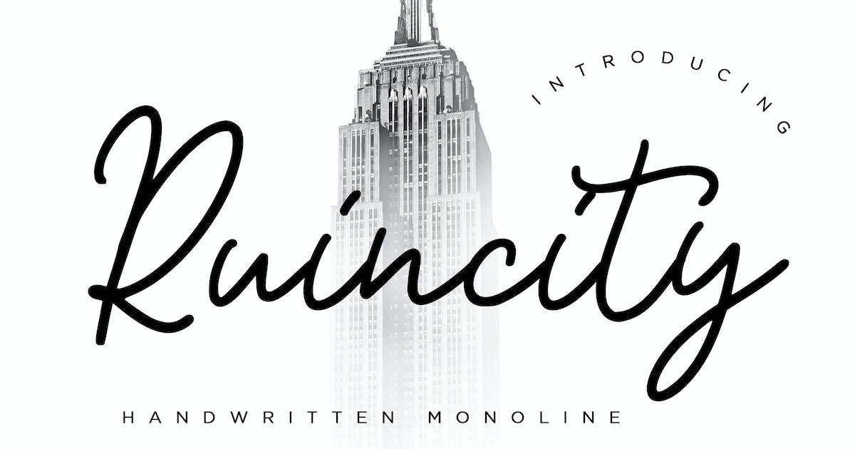 Download Ruincity Handwritten Monoline by RahardiCreative