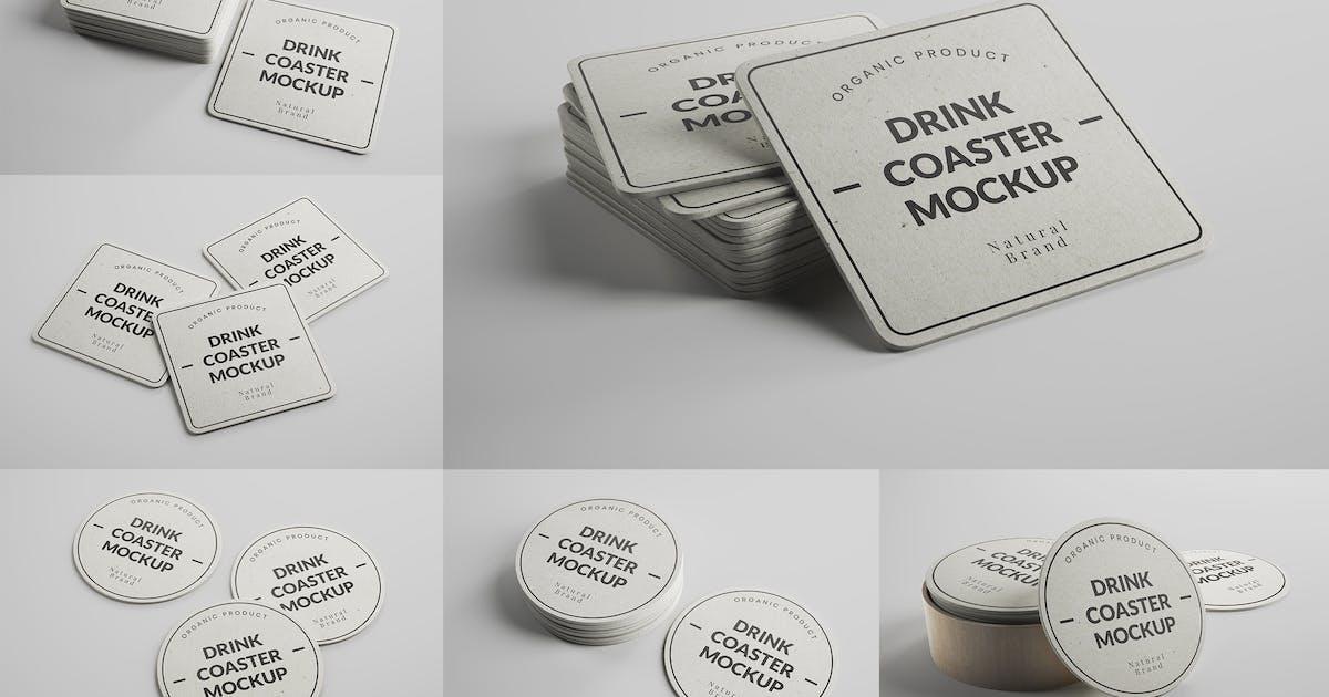 Download Paper Drink Coaster Mockups by MintMockups