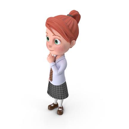 Cartoon Girl Grace Idle