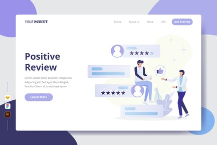 Positive Review - Landing Page