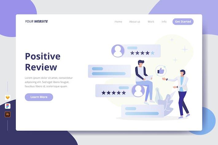 Positive Bewertung - Landing Page