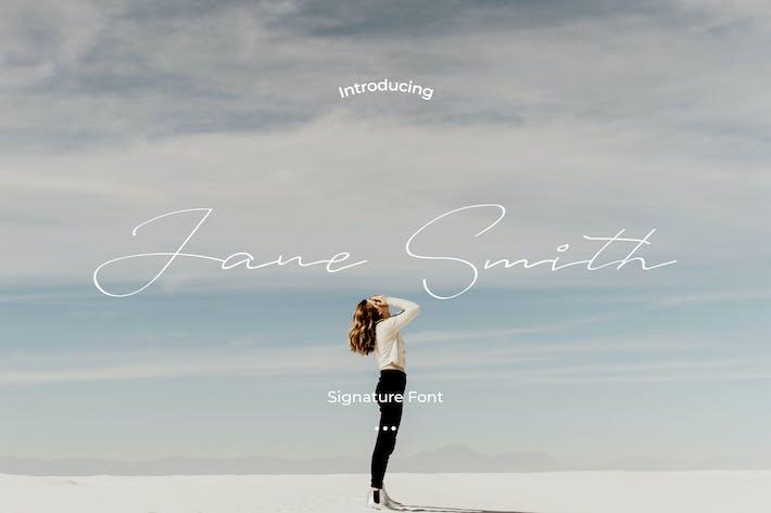 Thumbnail for Janes Smith - Handwritten font