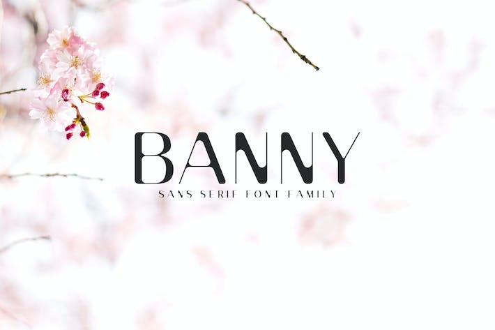 Thumbnail for Banny Sans Con serifa Familia tipográfica