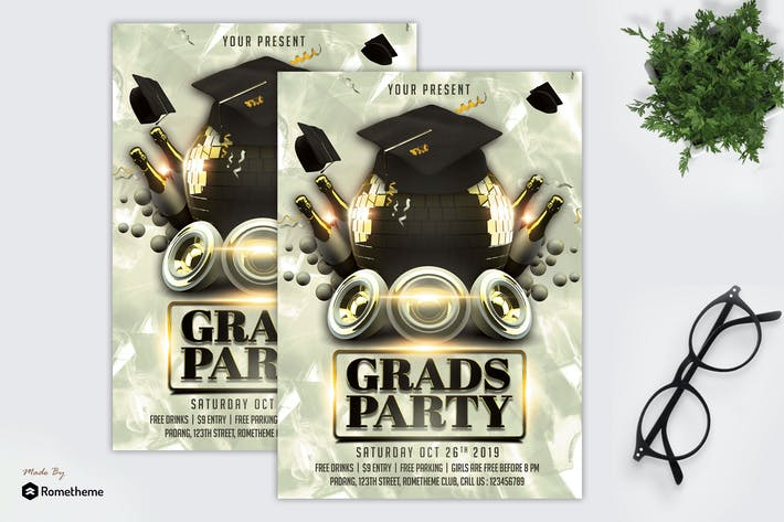 Thumbnail for Graduation - Party Flyer Template MR