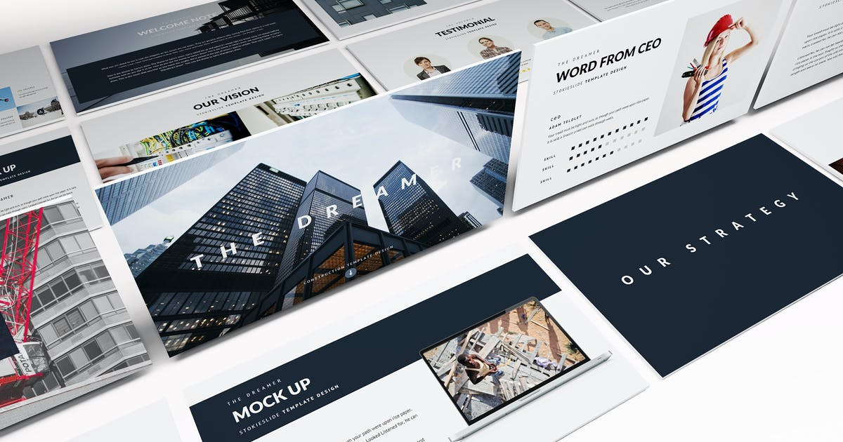 Download Modern Construction Powerpoint Template by Unknow