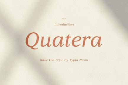 Quatera Italic - Elegant Classy Serif Italic