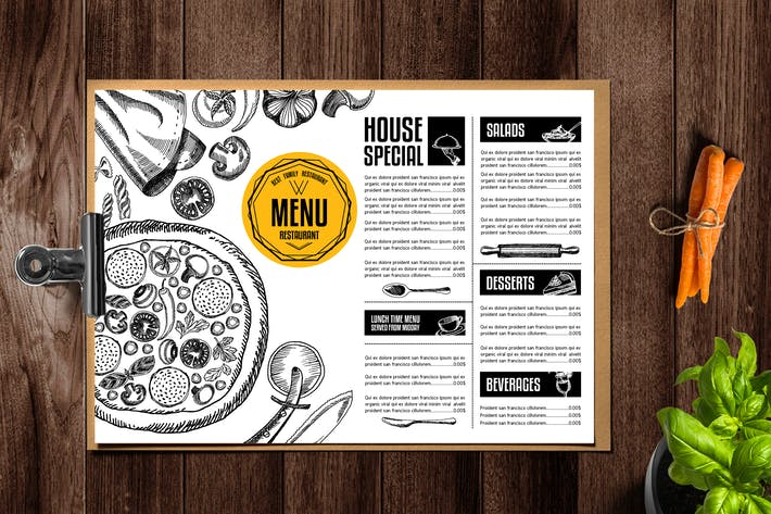 Thumbnail for Pizza Menu Template
