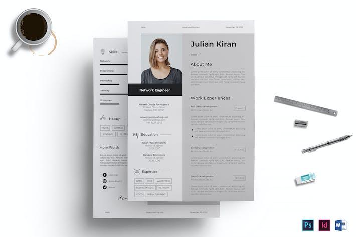 Thumbnail for Resume / CV Template