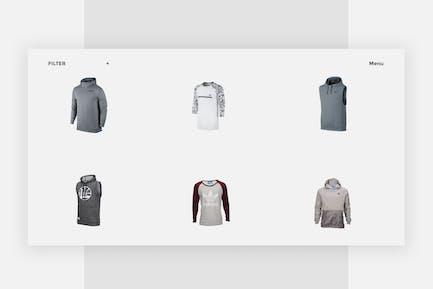 eCommerce - Site Web Grille de Vêtements Minimaux