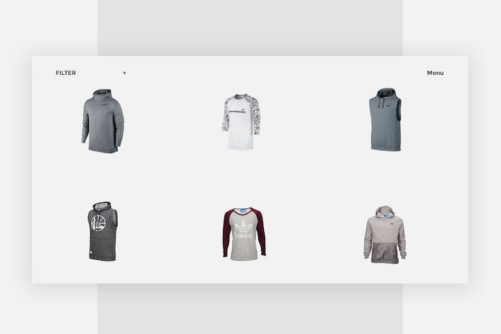 Thumbnail for eCommerce - Minimal Clothing Grid Website