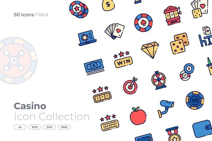 Thumbnail for Casino gefüllt Icon