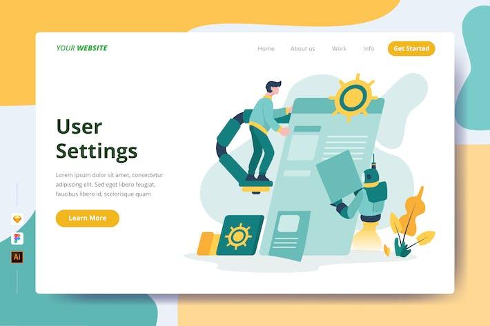 User Settings - Landing Page